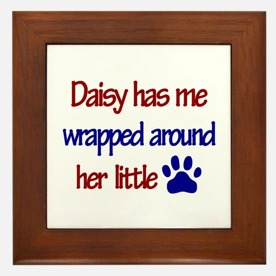 Daisy - Has Me Wrapped Around Framed Tile