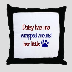 Daisy - Has Me Wrapped Around Throw Pillow