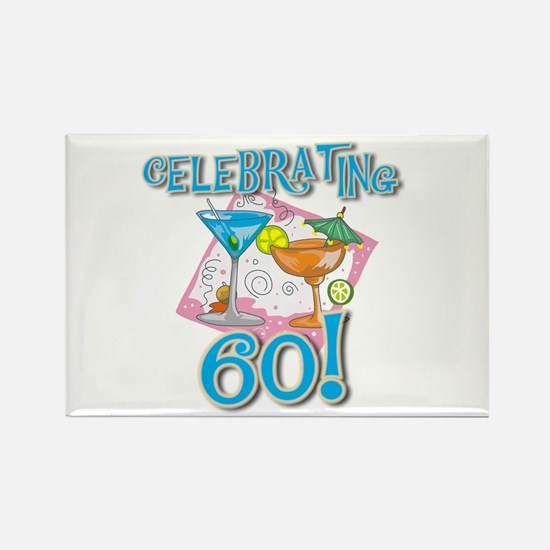 Celebrating 60 Rectangle Magnet