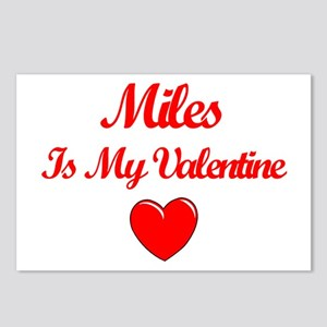 Miles is my Valentine  Postcards (Package of 8)