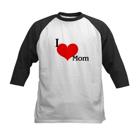 Love Mom Kids Baseball Jersey