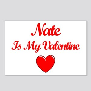 Nate is my Valentine  Postcards (Package of 8)