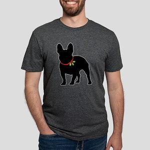 French Bulldog Silhouette Mens Tri-blend T-Shirt