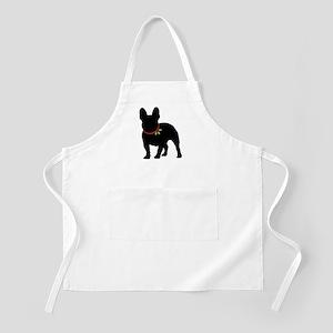 French Bulldog Silhouette Light Apron