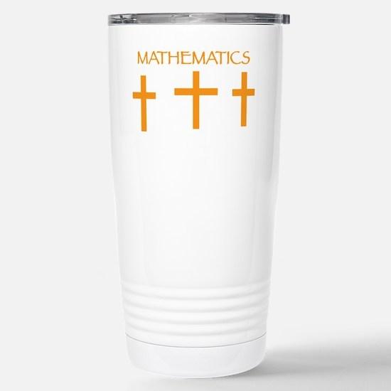 Mathematics Orange Stainless Steel Travel Mug