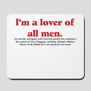 Man Lover Mousepad