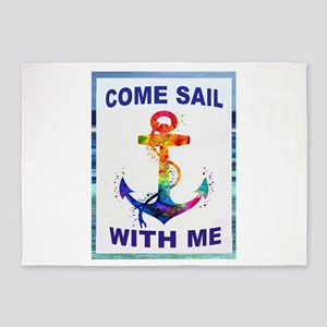 SAIL WITH ME 5'x7'Area Rug