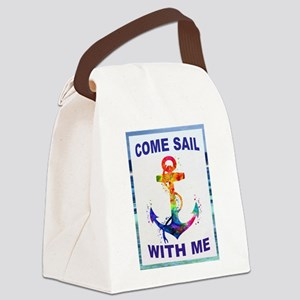 SAIL WITH ME Canvas Lunch Bag