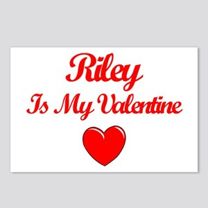 Riley is my Valentine  Postcards (Package of 8)