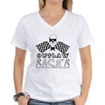 OUTLAW RACER Women's V-Neck T-Shirt