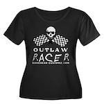 OUTLAW RACER Women's Plus Size Scoop Neck Dark T-S