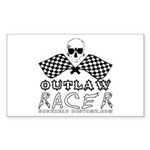 OUTLAW RACER Rectangle Sticker
