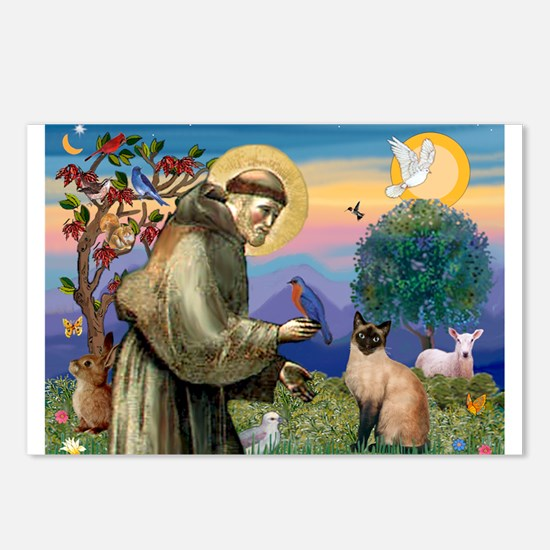 St Francis / Siamese Postcards (Package of 8)