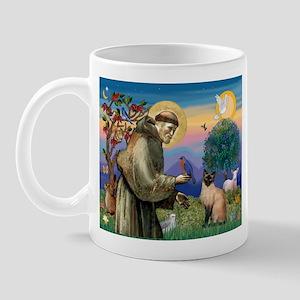 St Francis / Siamese Mug