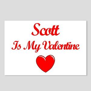 Scott is my Valentine  Postcards (Package of 8)