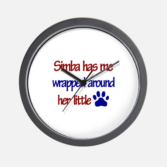 Simba - Has Me Wrapped Around Wall Clock