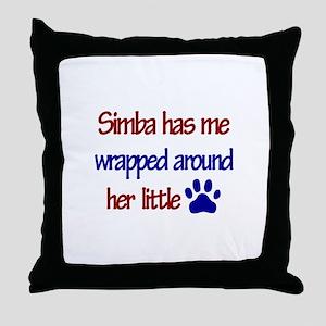 Simba - Has Me Wrapped Around Throw Pillow