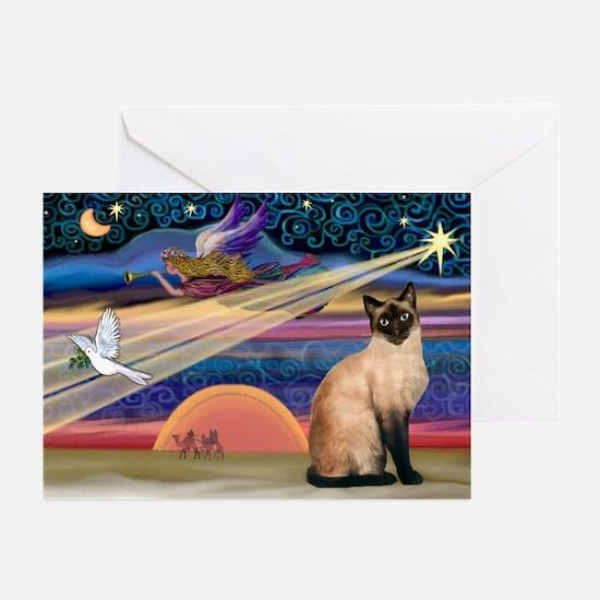 Xmas Star / Siamese Greeting Cards (Pk of 10)