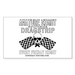 AMATURE NIGHT Rectangle Sticker