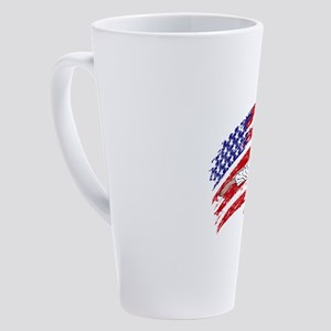 Funny Karate 17 oz Latte Mug