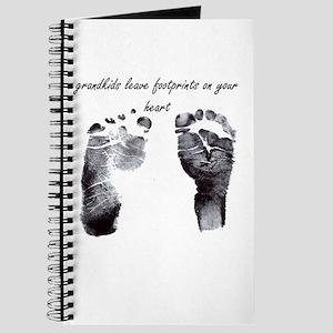 """grandkids leave footprints"" Journal"
