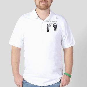 """grandkids leave footprints"" Golf Shirt"