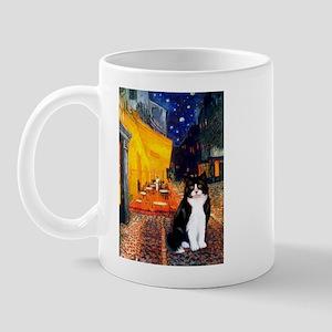 3-5.5x7.5-Cafe-Cat-Blk-Wht Mugs
