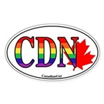 CanadianGay Oval Sticker
