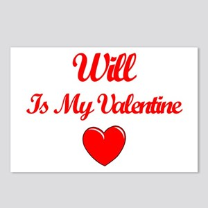 Will is my Valentine  Postcards (Package of 8)