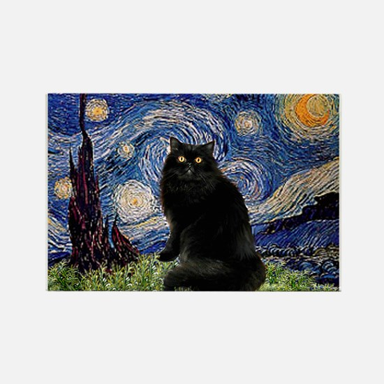 Starry Night /Persian (bl) Rectangle Magnet
