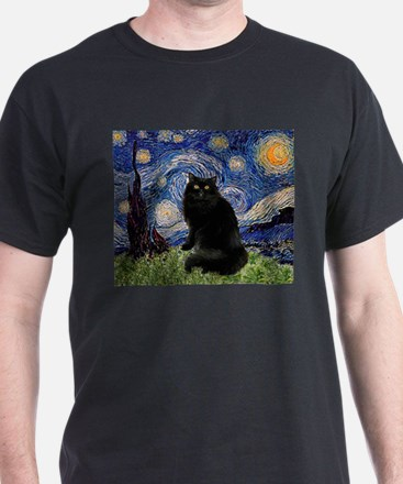 Starry Night /Persian (bl) T-Shirt