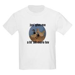 lucky duck wanting more love Kids T-Shirt