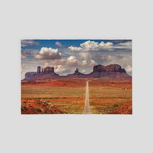 Road Trough Desert 4' x 6' Rug