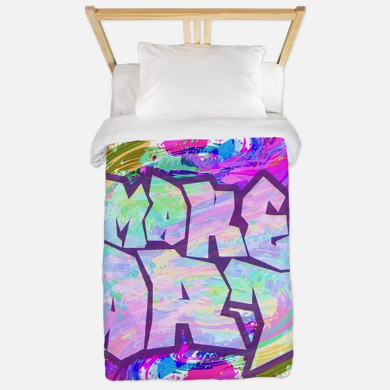 MAKE ART - FUN ART IDEA Twin Duvet Cover