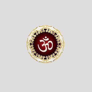 Om Design Sacred Sound Spiritual Medit Mini Button