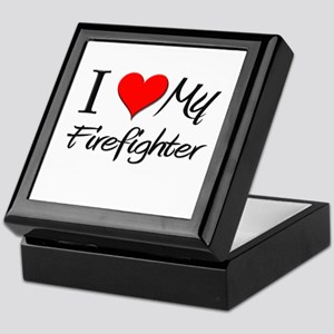 I Heart My Firefighter Keepsake Box