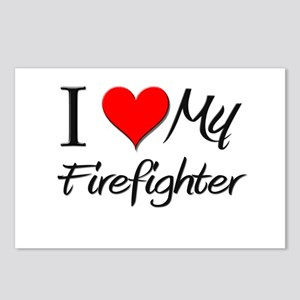 I Heart My Firefighter Postcards (Package of 8)