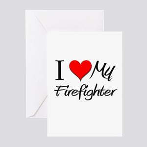 I Heart My Firefighter Greeting Cards (Pk of 10)