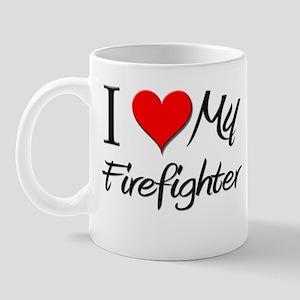 I Heart My Firefighter Mug