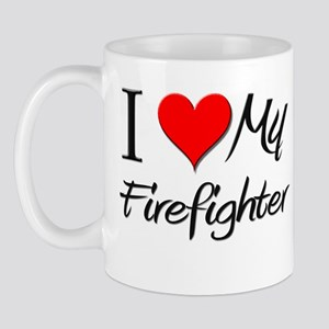 I Heart My Firefighter Mug