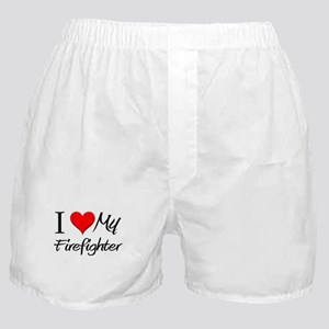 I Heart My Firefighter Boxer Shorts