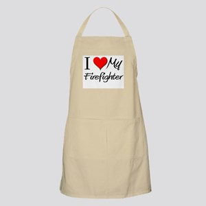 I Heart My Firefighter BBQ Apron