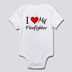 I Heart My Firefighter Infant Bodysuit