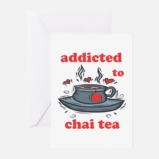 Addicted To Chai Tea Greeting Cards (Pk of 10)
