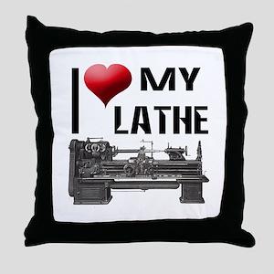 I Heart (Love) My Lathe Throw Pillow