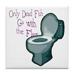 Dead Fish Bowl Tile Coaster