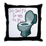Dead Fish Bowl Throw Pillow