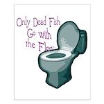Dead Fish Bowl Small Poster