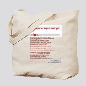 Church Music Geek Tote Bag