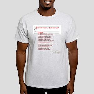 Church Music Geek Light T-Shirt